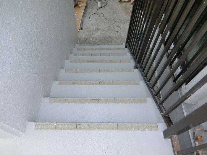 階段部分の塗装後