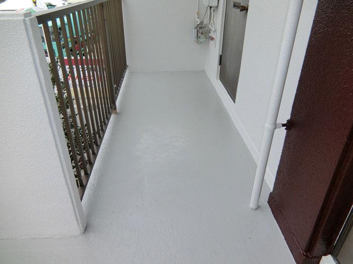 廊下部分塗装後