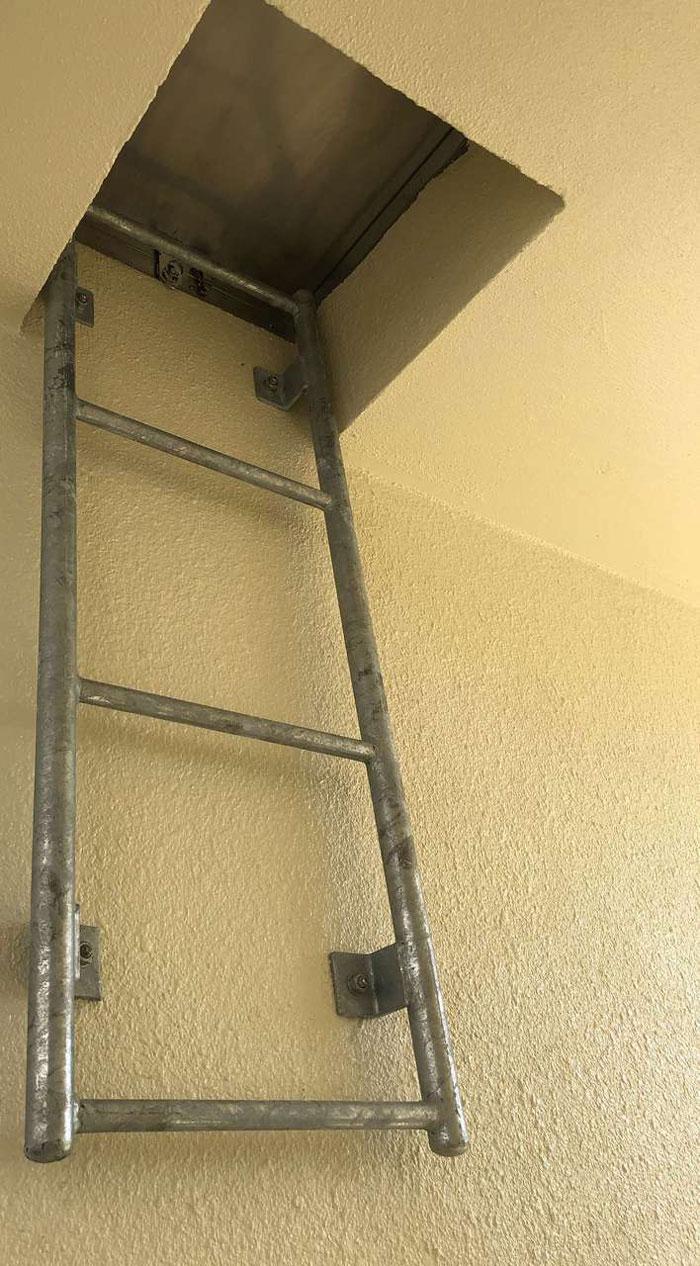 屋上梯子取付け後