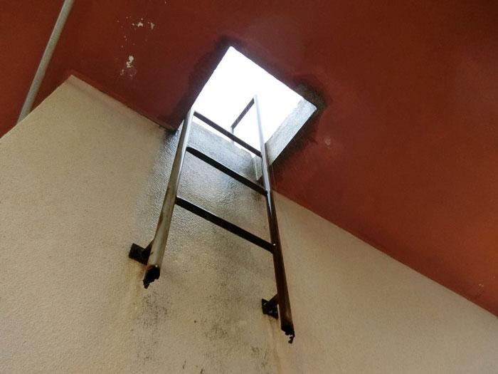 屋上梯子施工前