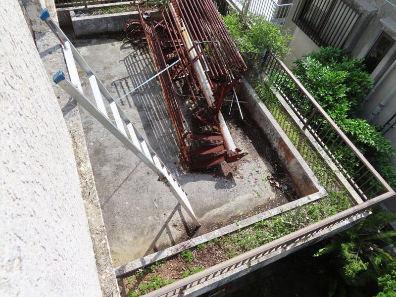 ベランダ防水施工前